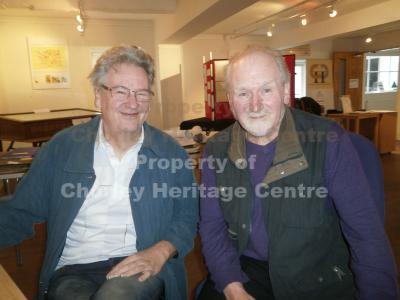 Photographs of Andrew Alston (left) who digitalised the mining archive and Frank Hough who created it